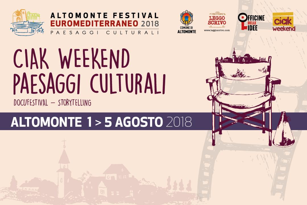 "Concorso ""Ciak Weekend – Paesaggi Culturali"""