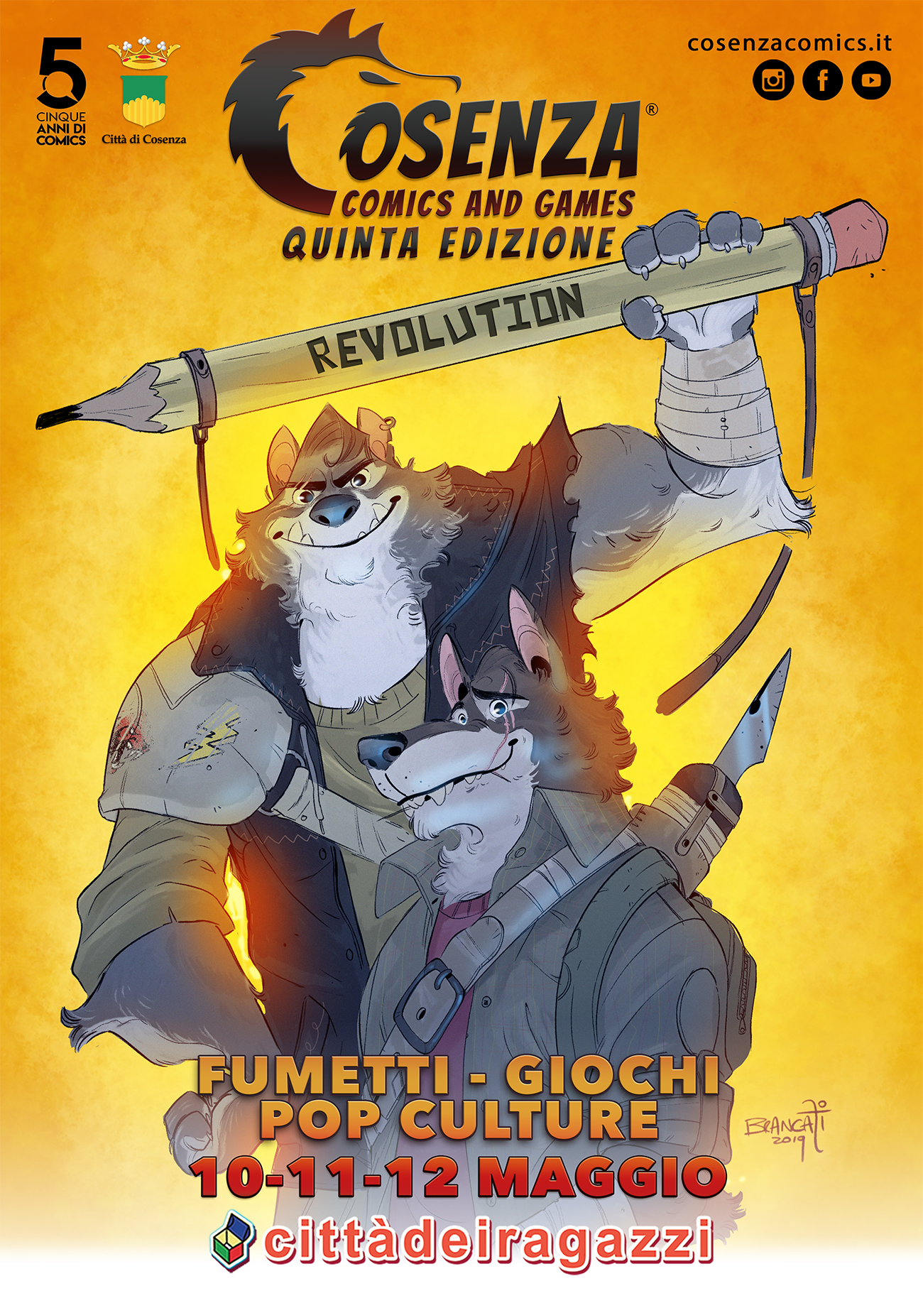 Locandina Comics cs 2019